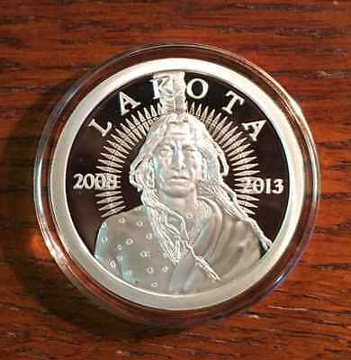 1 Oz. Lakota Indian .999 Silver Coin*proof*2008-2013 Limited*crazy Horse Buffalo