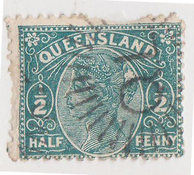 (JL-109) 1890 QLD ½d green side face (V)