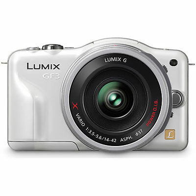 Panasonic Lumix DMC-GF3XW 12.1MP Micro FourThirds Compact Camera White BODY ONLY
