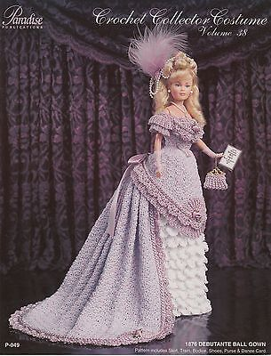 Paradise Publications 1876 Debutante Ball Gown fashion doll crochet pattern