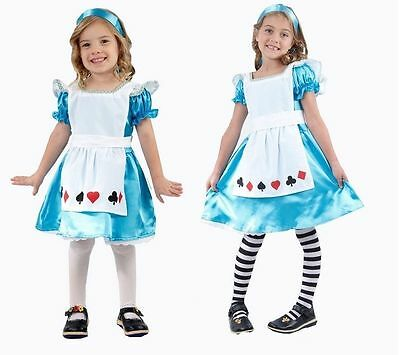 Alice in Wonderland Girls Fancy Dress Costume Kids Child Book Week Day Fairytale