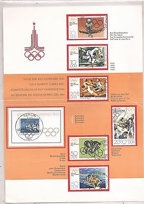 DDR - Olympiade-1980 - Bloc + Timbres