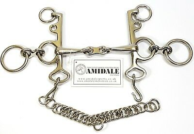 Rugby Pelham Horse Bit French Link Stainless Steel 4 Sizes Amidale Sports