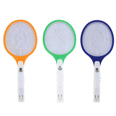 Rechargeable LED Electric Bug Pest Fly Mosquito Killer Swatter Zapper Racket i#