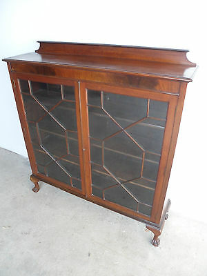 A Quality Late Victorian Light Flamed Mahogany Astral Glazed Bookcase