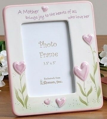 """Mother's Day Heart Photo Frame Roman 7"""" #47486"""
