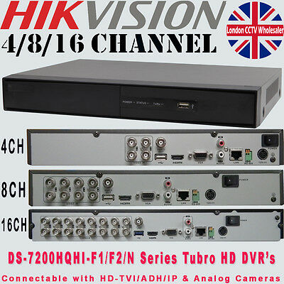 Hikvision 4/8/16 Channel DVR Turbo 4 in1 HD-TVI 1080P CCTV Security Recorder