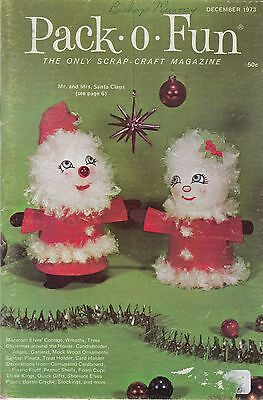 Pack-o-Fun craft pattern magazine December 1973 Christmas scrap crafts