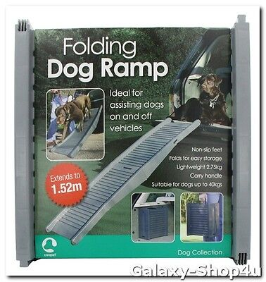 Folding Dog Ramp Pet Car Van Lightweight Tri Fold Gear Travel Transport  Plastic