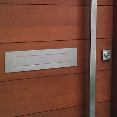 Milkcan LARGE A4 MAIL LETTER FLAP DOOR PLATE Letterbox 304 Stainless Mailbox