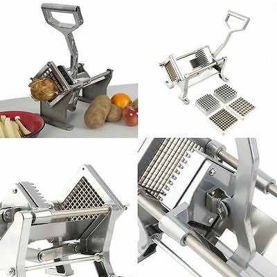 Potato French Fry Fruit Vegetable Cutter Slicer Commercial Quality 3 Blades US #