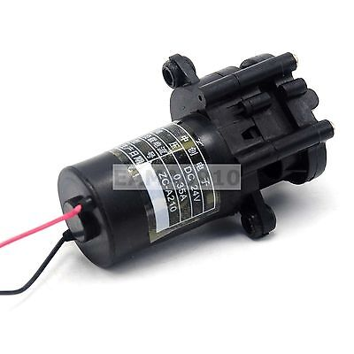 24V Mini Plastic Gear Pump Self-priming Water Pump 100 degrees C ZC-A210