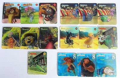 Woolworths Dreamworks Heroes 3D Holographic Cards Small Mixed Lot Exc Cond 105