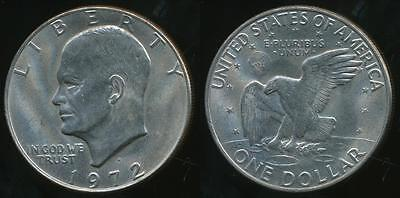 United States, 1972-D One Dollar, Eisenhower - Uncirculated