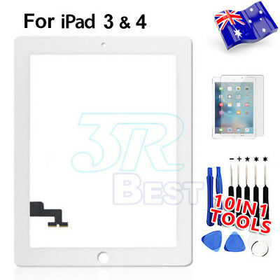 Front Glass Touch Lens Digitizer For Apple New iPad 3 4 Screen Replacement White
