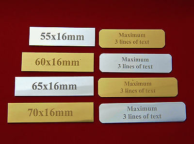 10 X Sports Trophy Engraved Plates Plaque Picture Frame, Engraved Gift Label