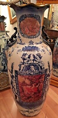 Large Porcelain Urn - Hand-Painted