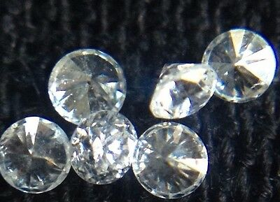 New Genuine Natural White Round Diamonds 20pc Lot .01ct 1.25mm G/VVS Melee Loose