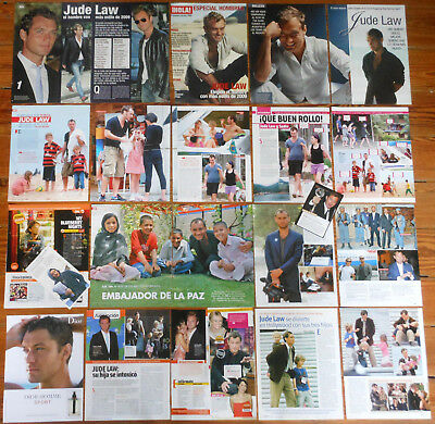 JUDE LAW spanish clippings photos magazine articles actor pictures
