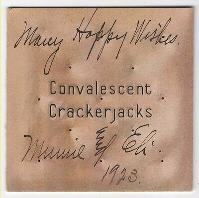 Convalescent Crackerjacks Card, 1923