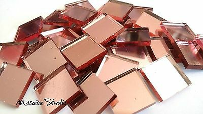 Mirror Tiles - Shimmer - Soft Pink   x 30pc