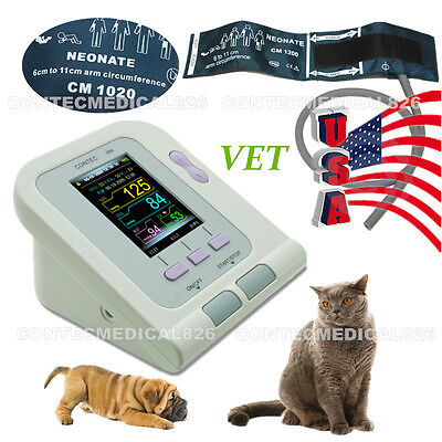 US Digital Veterinary Blood Pressure monitor,NIBP Heart Beat Meter,Vet cuff,New