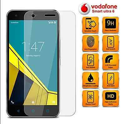 100% New Real Tempered Glass Screen Protector LCD for Vodafone Smart Ultra 6
