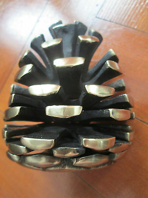 Large solid brass Pine cone door knocker