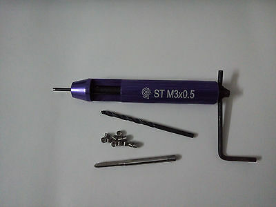 Helicoil Thread Repair Kit M3 x 0.5 Drill and Tap Insertion Tool New