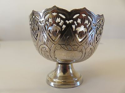 ANTIQUE ISLAMIC OTTOMAN TURKISH SOLID SILVER ZARF COFFEE CUP 19th C. /N°2