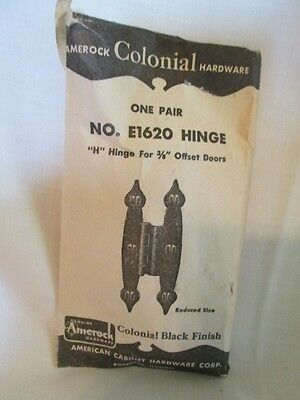 One Pair Vintage Amerock E1620 Colonial Cabinet Hinges