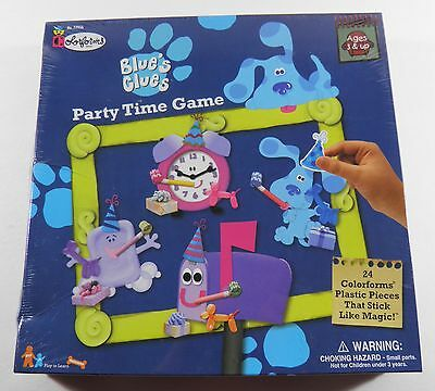 Blue's Clues Party Time Game Colorforms (1998) Sealed!