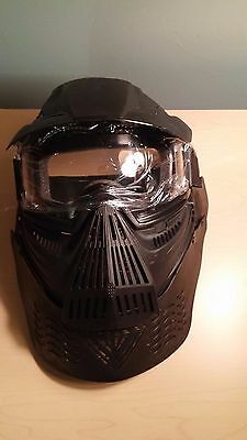 Full Face Protection Paintball Mask + Integrated Neck Protection