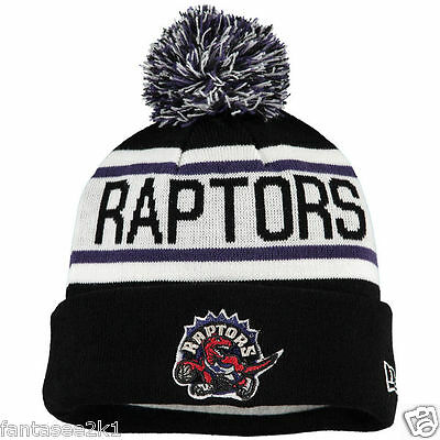 7b85fe53deb Toronto Raptors Biggest Fan Winter Beanie Pom Stocking Hat Cap New Era Knit  NBA