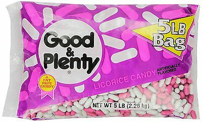 GOOD & PLENTY Candy (5-Pound Bag)  by HERSHEY'S , [hfs-koi-zk-a13094] BRAND NEW