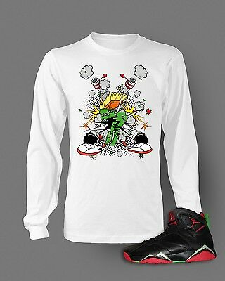 2dd2ea2d Tshirt to Match Retro Air Jordan 7 Marvin The Martian Long Sleeve T White S-