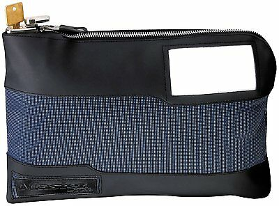 Master Lock 7120D Locking Security Bag, Blue, 11-1/2 in x 8-3/8 in x 1-3/8 inch