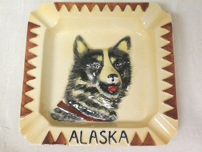Ceramic 3D Malamute Face Alaska Souvenir Ashtray
