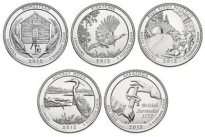 2015 National Park Quarters - Complete 10 Quarter P&D Set - US Mint **IN HAND**