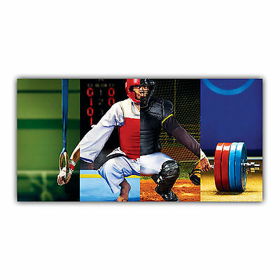 Multi-Sport Tableau Poster Décoration Photo Musculation Baseball Gym ARIMAJE