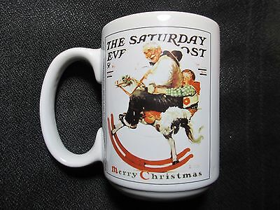 Norman Rockwell Christmas Coffee Mug Gramps At The Reins Saturday Evening Post