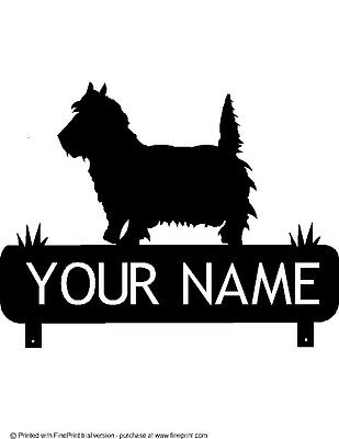STEEL BLACK POWDER COAT FINISH YOUR  NAME CUSTOM TOY POODLE MAILBOX TOPPER