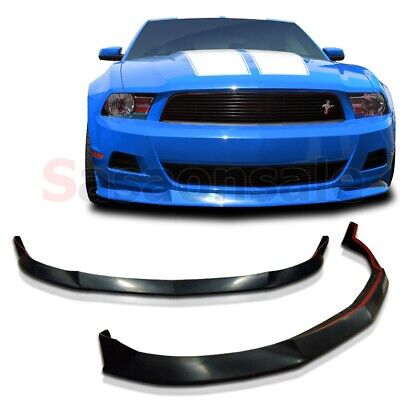 2010-2012 Ford Mustang V6 STL Street Style Front Valance PU Bumper Spoiler Lip
