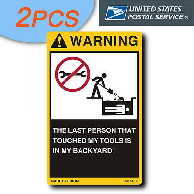 2PCS Warning Signs Decal Sticker for Tool Box Chest Cabinet - Matco Mac wrenches