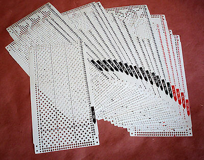 Pre-punched card set All 24-stitch Knitting Machine Brother/SReed/Singer/Toyota