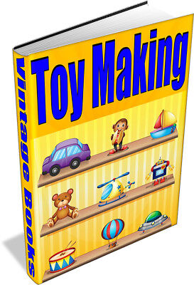 63 BOOKS - How to Make Toys - Vintage, Homemade, Models, Woodwork - Toy Making