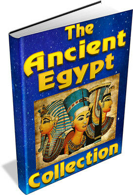 ANCIENT EGYPT 261 BOOK COLLECTION ON DVD - hieroglyphics, pyramid, sphinx