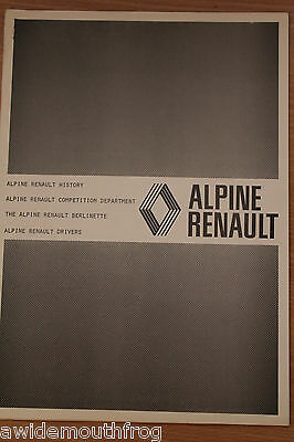 Renault Alpine 1971 Official Factory Competition History & Berlinette