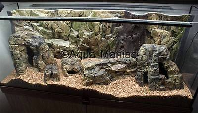 Aquarium Ornament Cave Hide For Fish Tank 3D Rock empty inside with holes