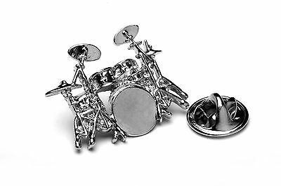 Drum Kit Pin Lapel Badge with gift pouch Drum Teacher Gift Designed by drummers